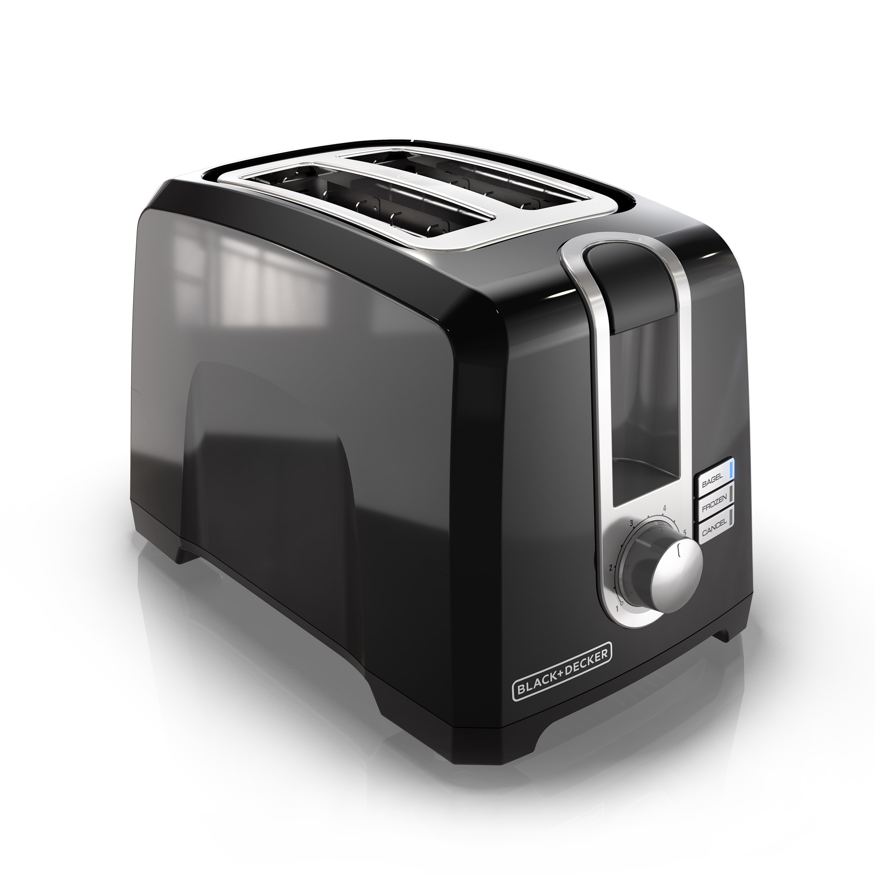 BLACK+DECKER 2-Slice Extra Wide Slot Toaster, Black, T2569B