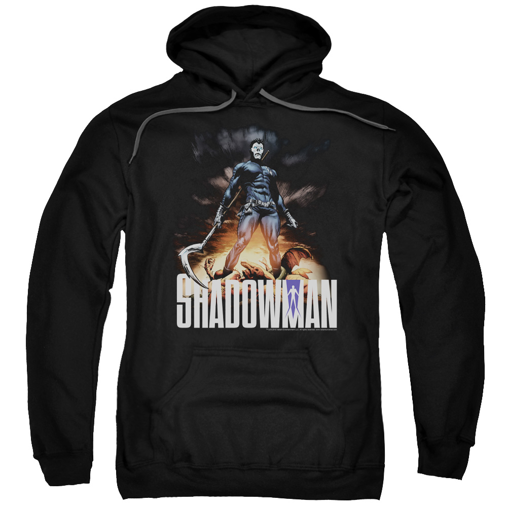 Shadowman/Shadow Victory Adult Pull Over Hoodie Black  Val166