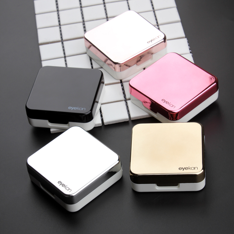 CHICIRIS Reflective Cover Contact Lens Case Set Cute Lovely Travel Kit Box, Contact Lenses Box, Lens Box