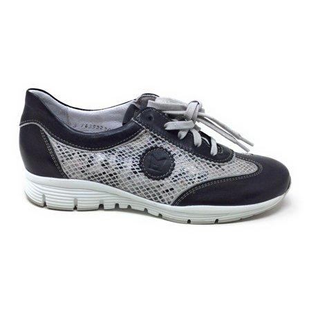 Mephisto Cool (Mephisto Womens Yael Oxford Sneaker Black Smooth Grey Boa Silver Size 6 M US)