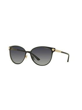Versace Womens Sunglasses (VE2168) Black/Grey Metal - Polarized - 57mm
