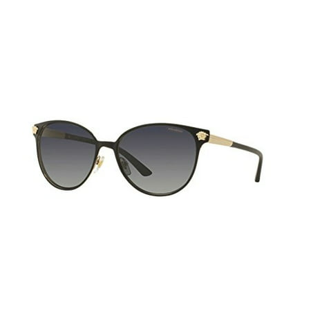 Versace Womens Sunglasses (VE2168) Black/Grey Metal - Polarized - (Versace Glasses For Kids)