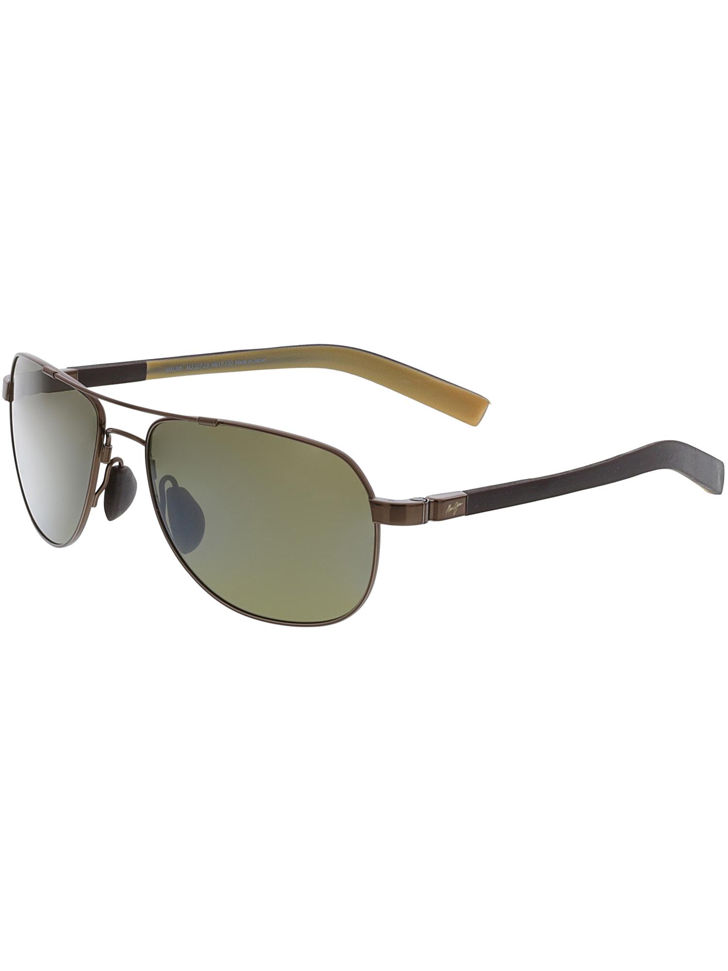 Maui Jim Sunglasses   Guardrails 327   Aviator Frame, Polarized Lenses, with Patented PolarizedPlus2 Lens Technology