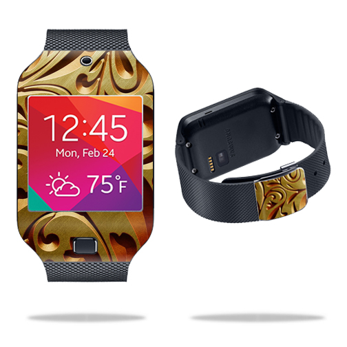 Skin Decal Wrap for Samsung Galaxy Gear 2 Neo Smart Watch cover skins sticker watch Mosaic Gold
