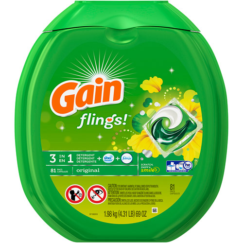 Gain flings! Laundry Detergent Pacs, Original, 81 count