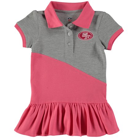 San Francisco 49ers Girls Toddler Good Sport Polo Dress - Pink