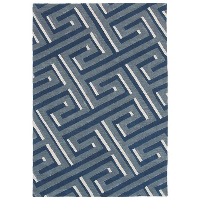 Trans Ocean RMA46930633 Roma Hand Tufted Indoor Rugs, 9306-33 Maze Denim - 42 x 66 in. - image 1 de 1