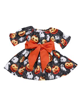 d08acfd9935d Product Image Mosunx Toddler Infant Baby Girls Pumpkin Ghost Print Dresses  Halloween Costume Outfits