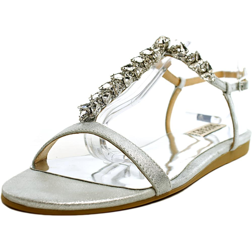 Badgley Mischka Amuse II Open Toe Leather Sandals by Badgley Mischka
