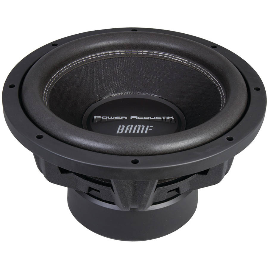 "Power Acoustik BAMF-124 BAMF Series Subwoofer (12"", 3,500 Watts Max, Dual 4 Ohm)"