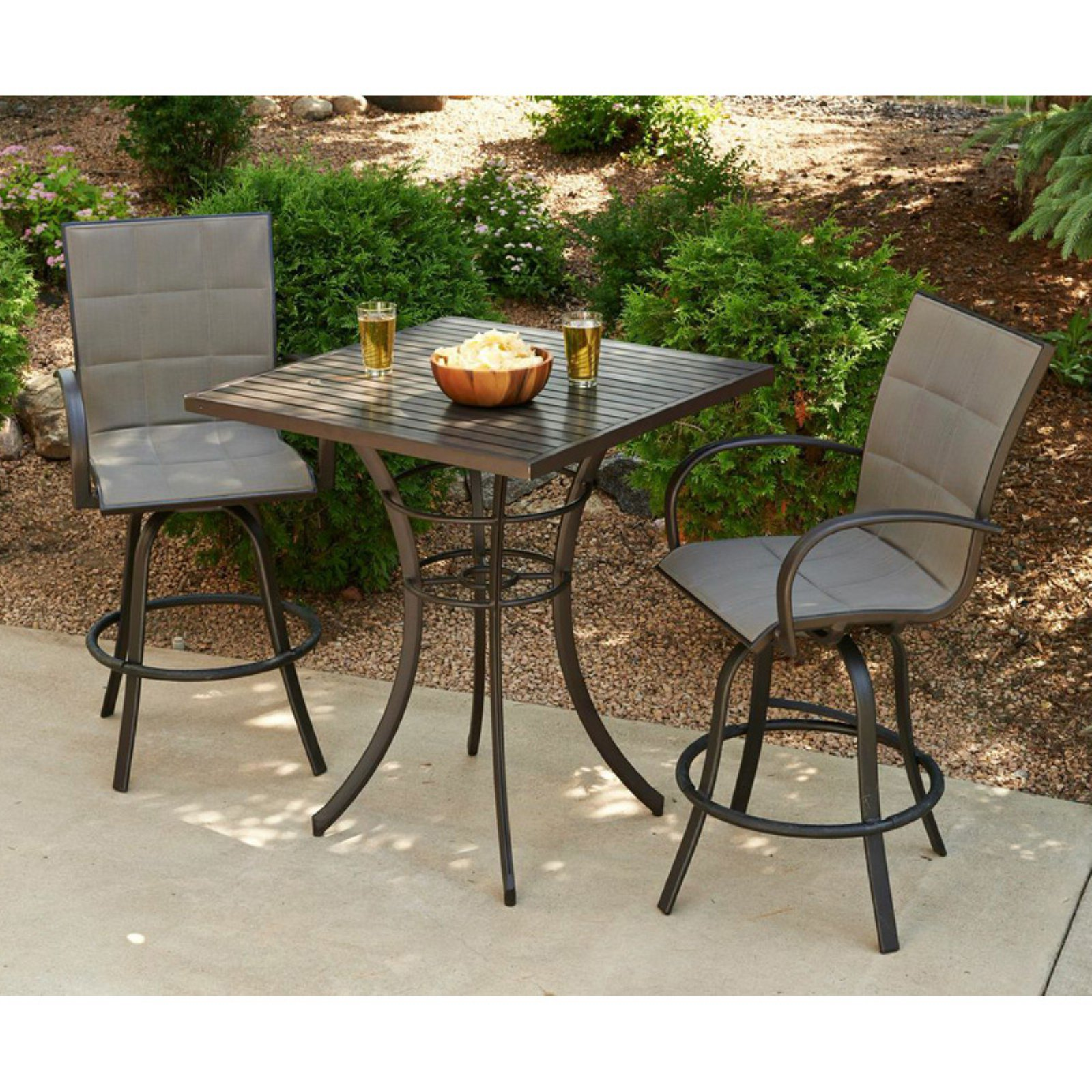 Outdoor GreatRoom Empire 3 Piece Pub Table Set