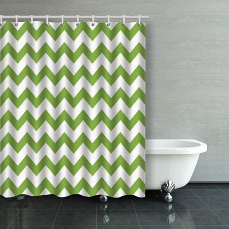 BPBOP Green Spring Chevron Seamless Pattern Shower Curtains Bathroom