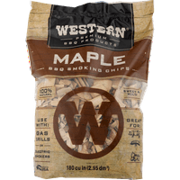 Western Premium BBQ Products Maple Smoking Chips, 180 CU. IN.