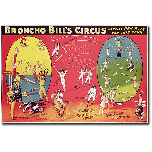"Trademark Fine Art ""Broncho Bill's Circurs, Brimingham, 1890's"" Canvas Wall Art"