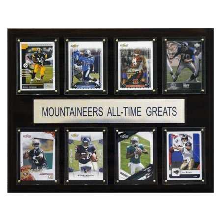 C&I Collectables NCAA Football 12x15 West Virginia Mountaineers All-Time Greats Plaque