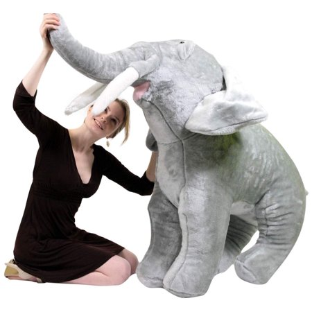 American Made Giant Stuffed Elephant 48 Inch Soft Big Plush Realistic Jungle Animal ()