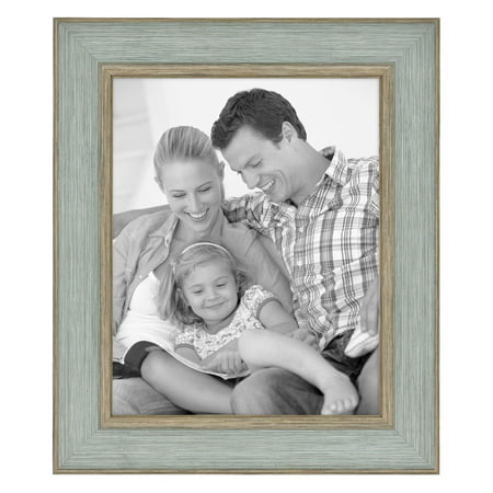 "Mainstays 8"" x 10"" Tabletop Picture Frame, Elegant Teal"