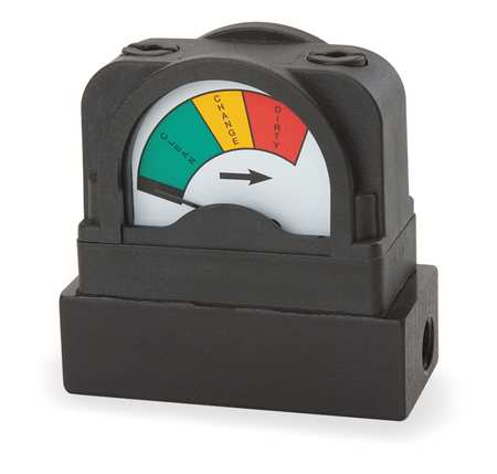 MIDWEST INSTRUMENT 555A-15.0 Pressure Indicator, 0 to 15 psi