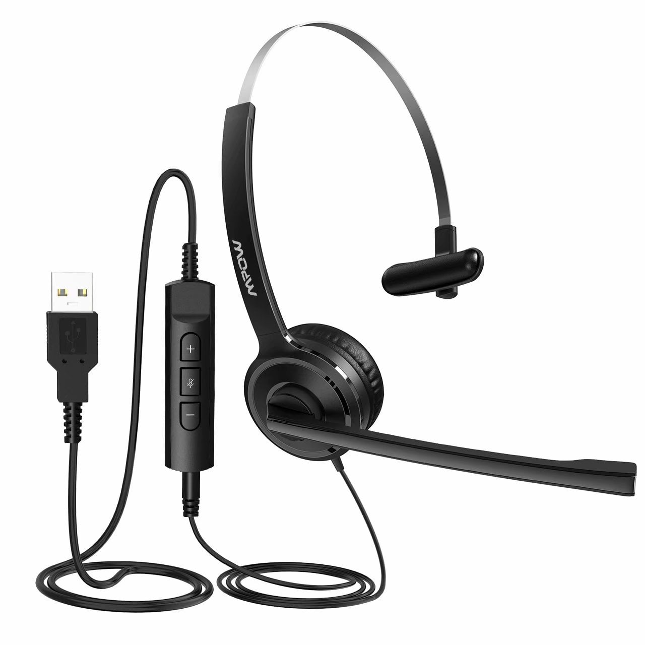 Mpow Single Sided Usb Headset With Microphone Over The Head Computer Headphone For Pc 270 Degree Boom Mic For Right Left Ear Comfort Fit Call Center Headsets With In Cord Volume Control Walmart Com Walmart Com