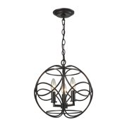 Chandette 3-Light Pendant in Oil Rubbed Bronze