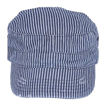 Mega Cap Washed Cadet Cap (Pinstripe), 100% cotton By