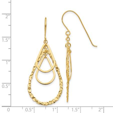 14K Yellow Gold Tear Drop Earrings - image 1 of 2