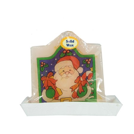 """4.25"""" Decorative Santa Claus Christmas Candle with Real Wax"""
