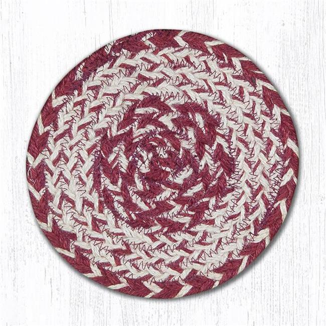 Capitol Importing 78-07ITC10 Burgundy Round Large Coaster, 7 in.