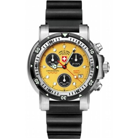 27a26a7bf CX Swiss Military Watch 17254 Sea Wolf 1 Scuba - Yellow - image 1 of 1  zoomed image