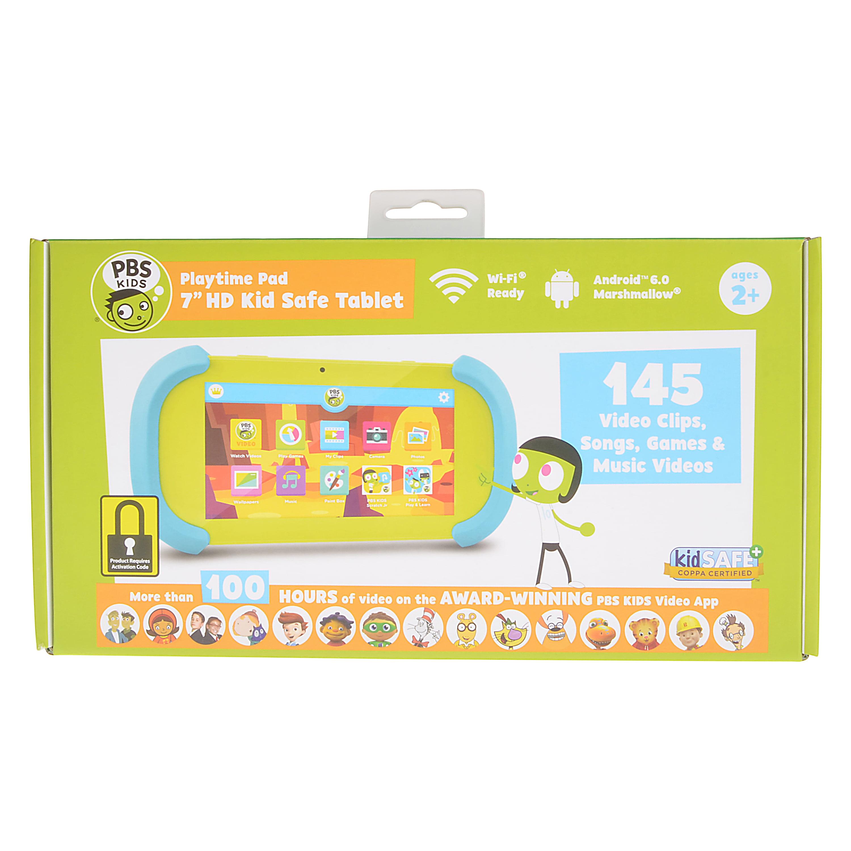 7 Hd Pbs Kids Playtime Pad Kid Safe Tablet Wifi Ready Walmartcom