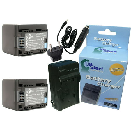 2x Pack - Canon LEGRIA HF R406 Battery + Charger with Car & EU Adapters - Replacement for Canon BP-727 Digital Camera Battery and Charger (2400mAh, 3.6V, Lithium-Ion) - image 4 de 4