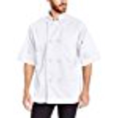 Chefs Coat Knotted Cotton Buttons (Dickies Chef Classic Knot Button Chef Coat S/S )