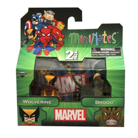 Marvel Minimates Series 47 Wolverine & Brood Minifigure 2-Pack (Marvel Wolverine Claws)