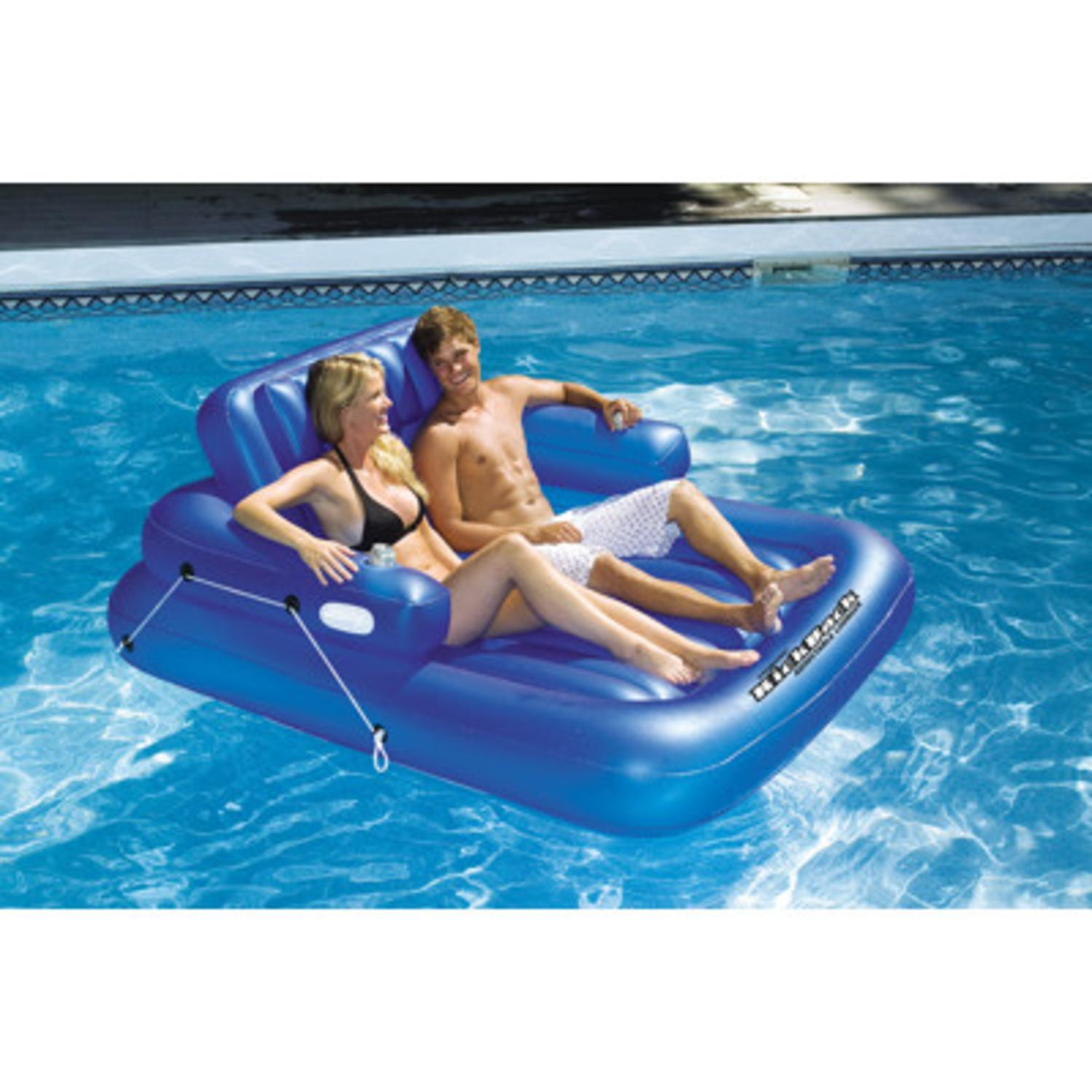 Water Sports Inflatable Kickback Adjustable Swimming Pool Lounger for 2 People