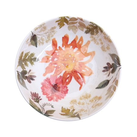 Better Homes & Gardens Floral Melamine Cereal Bowl, Set of (Multi Purpose Plastic Bowl)