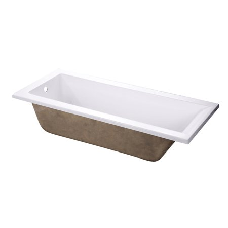 Wood Soaking Tub (Kingston Brass VTPN672817 Aqua Eden 67