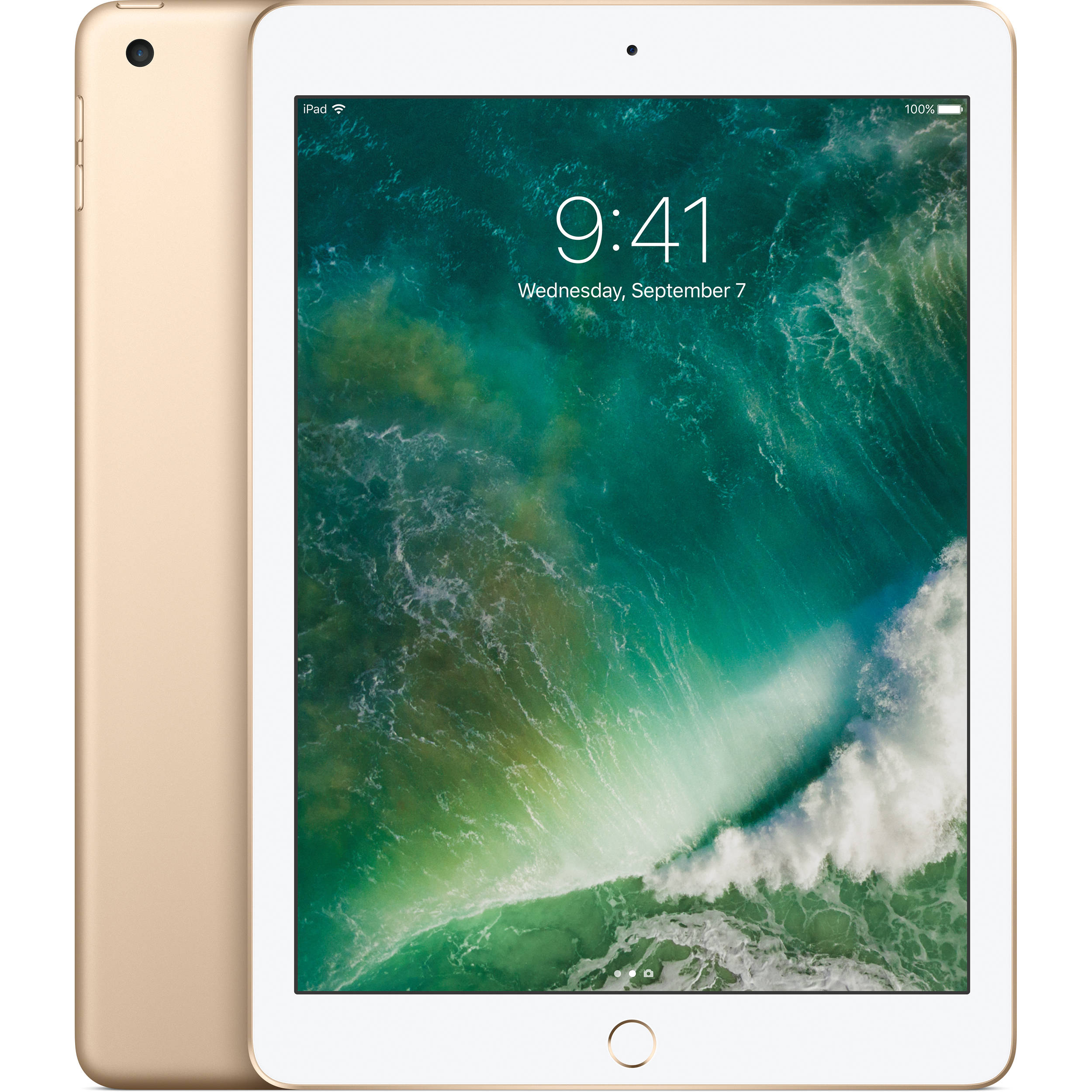 "Refurbished Apple iPad 2017 MPGW2LL/A with WiFI 9.7"" Touchscreen Tablet Featuring iOS 10, Gold"