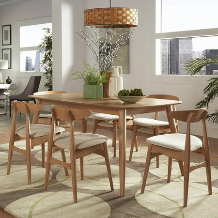 Chelsea Lane Mid Century Modern 7-piece Dining Set, 60