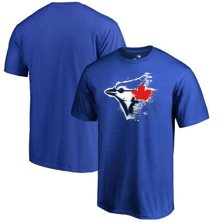 Blue Jays Toronto (Toronto Blue Jays Fanatics Branded Splatter Logo Big and Tall T-Shirt -)