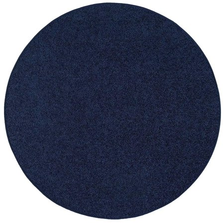 Bright House Solid Color Area Rugs Navy - 6'