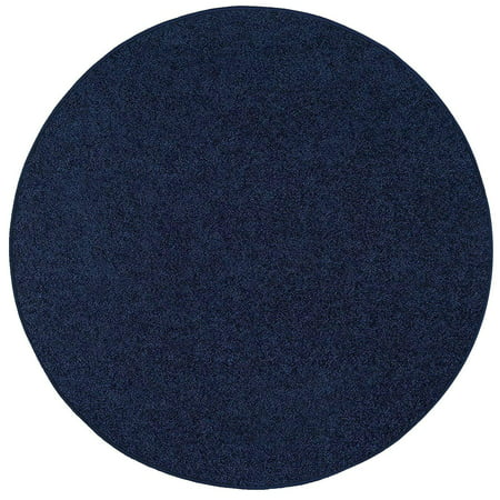 Bright House Solid Color Area Rugs Navy - 6' Round](Red Carpet Hollywood)