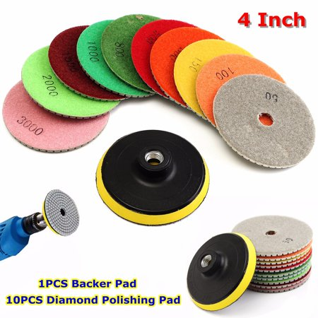 - 50-3000 Grit Diamond Waffle Buffer Compound Waxing Polishing Pads Wheel Grinding Disc Buffers & Polishers For Granite Marble Concrete Stone Car Polisher