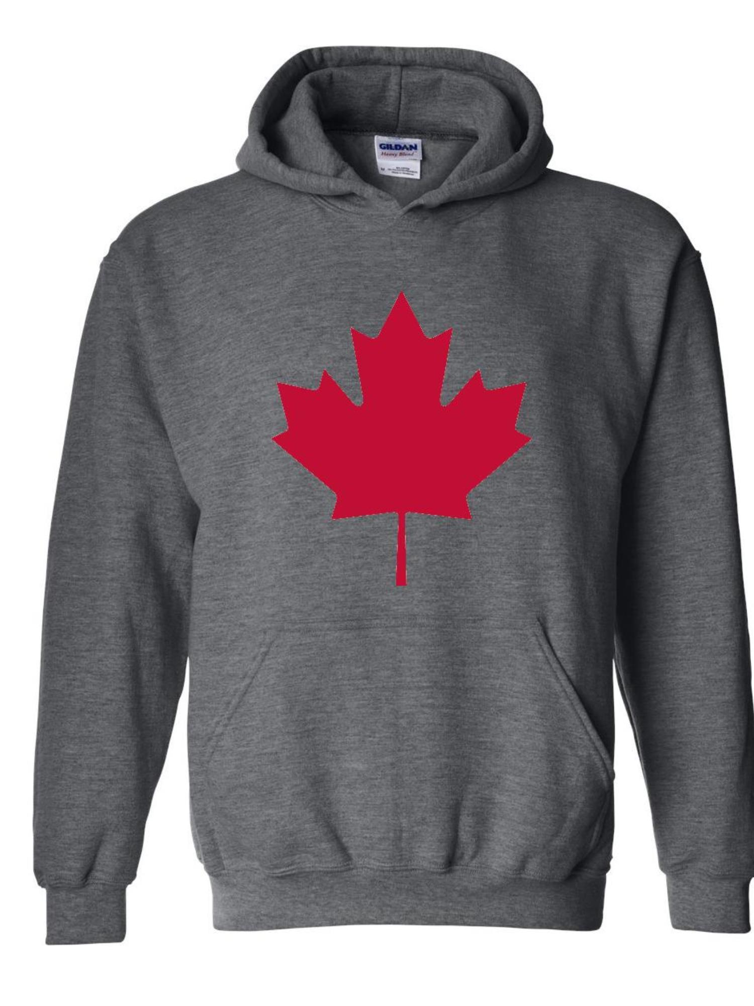Canada Pride Youth Fleece Crewneck Sweater Canadian Maple Leaf