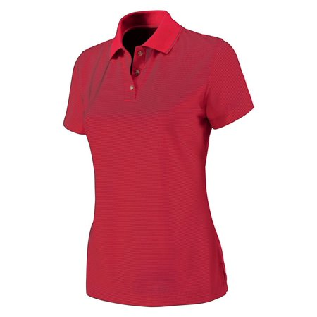 Charles River Apparel Women's Microstripe Wicking Polo Shirt