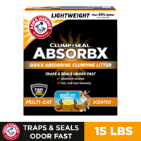 Arm & Hammer Clump & Seal AbsorbX Clumping Litter, MultiCat (Multiple Sizes)