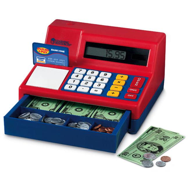 LEARNING RESOURCES LER2629 CALCULATOR CASH REGISTER-WITH U. S.  CURRENCY