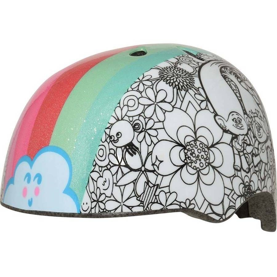 C-Preme Trolls Rainbow Hair Color Me Child Bike Helmet