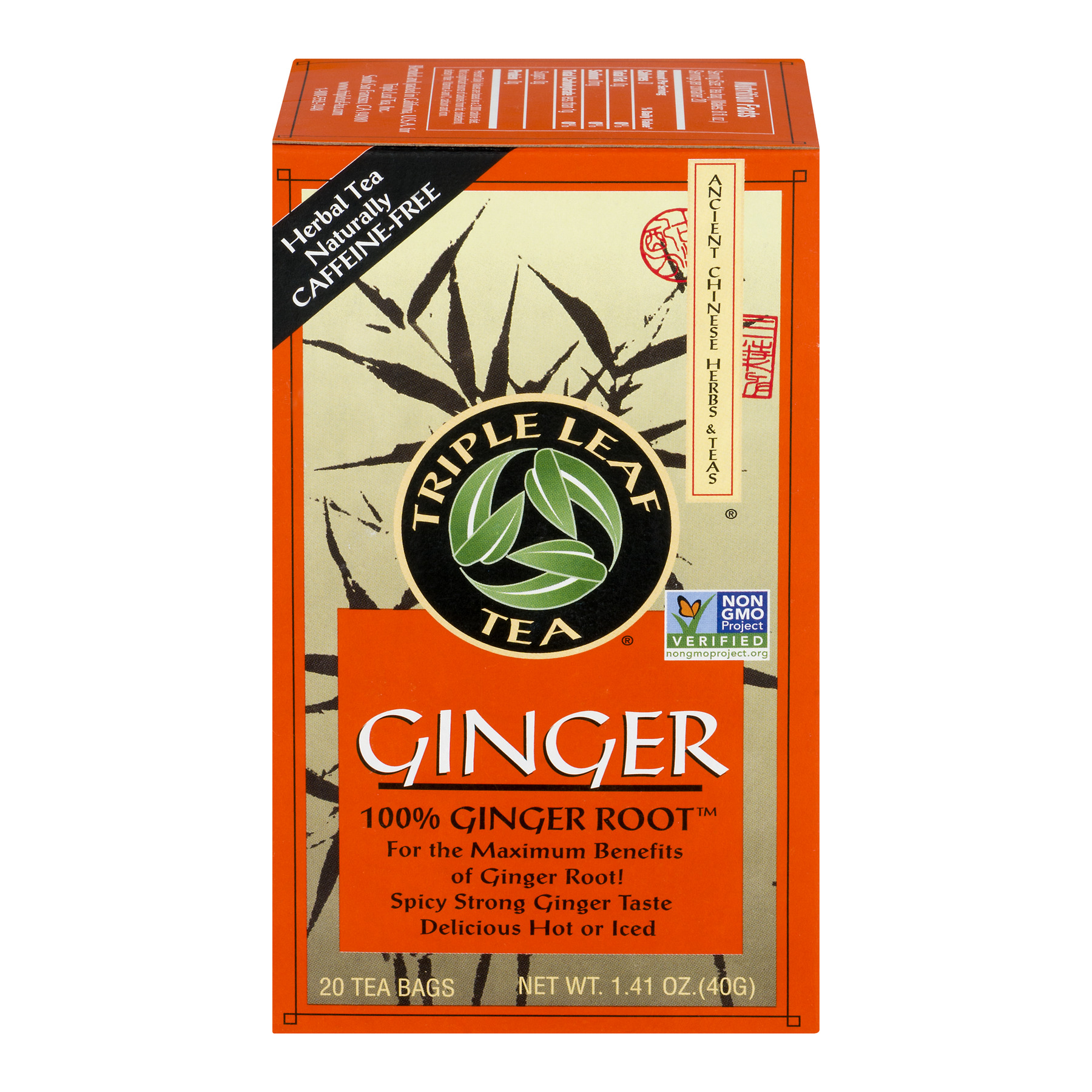 Triple Leaf Tea Ginger - 20 CT