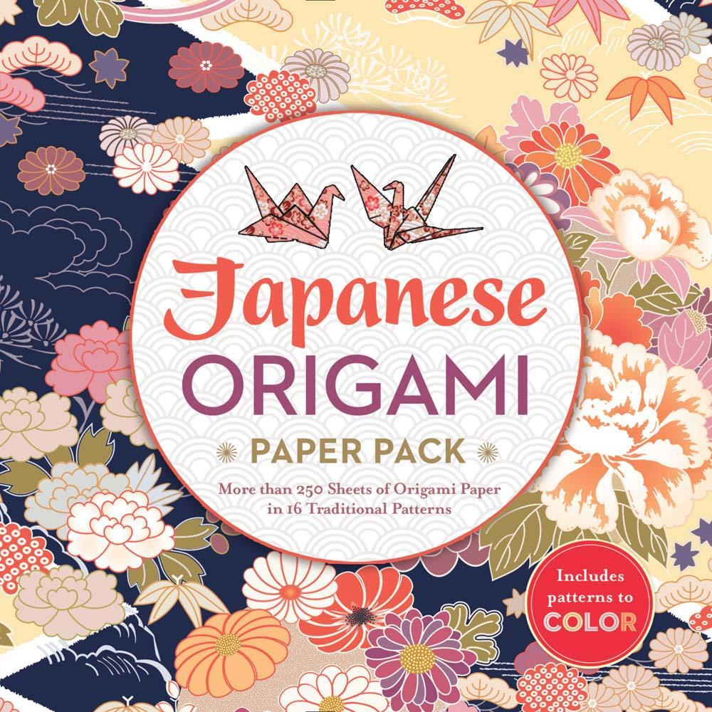 Japanese Origami Paper Pack: More Than 250 Sheets of Origami Paper in 16 Traditional Patterns (Paperback)