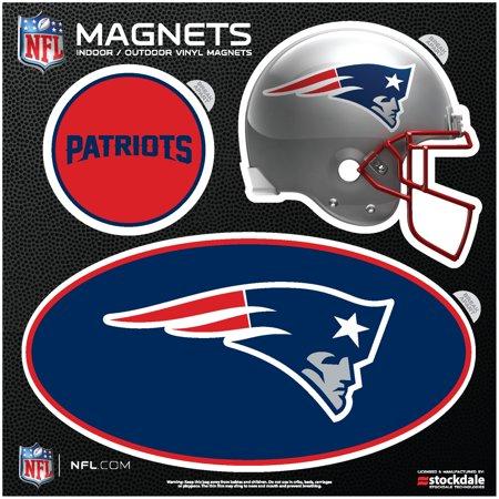 New England Patriots Indoor & Outdoor 3-Pack Magnet Set - No Size